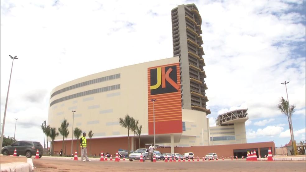 Fachada do JK Shopping, em Taguatinga (Foto: Reprodução/TV Globo)
