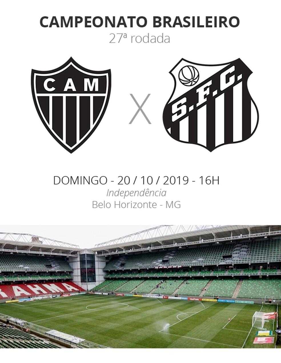 Atletico Mg X Santos Veja Como Assistir Escalacoes Desfalques E Arbitragem Brasileirao Serie A Ge