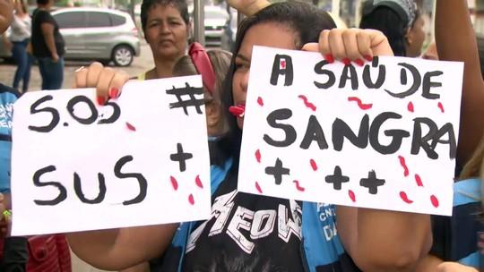 Greve dos funcionários terceirizados da Saúde do Rio entra no quarto dia