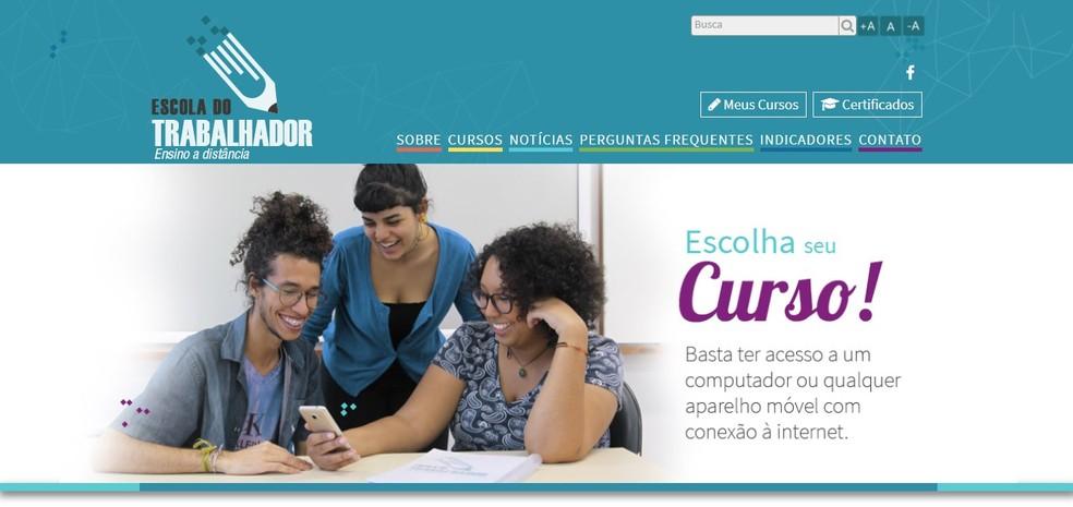 Escola do Trabalhador é um programa capacitação do Governo Federal (Foto: Reprodução/Clara Barreto)