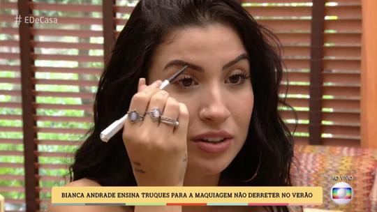 Bianca Andrade ensina truques para maquiagem não derreter no verão