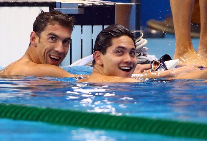 Joseph Schooling e Phelps (Foto: Reuters)