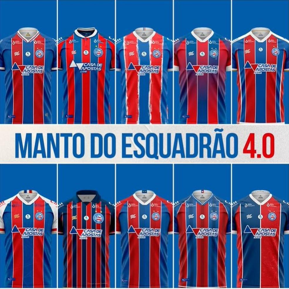 Bahia divulga camisa feitos pelos sócios escolhidas em concurso — Foto: Divulgação/E.C. Bahia