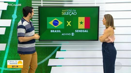 Seleção Brasileira enfrenta o Senegal em amistoso, na manhã desta quinta-feira