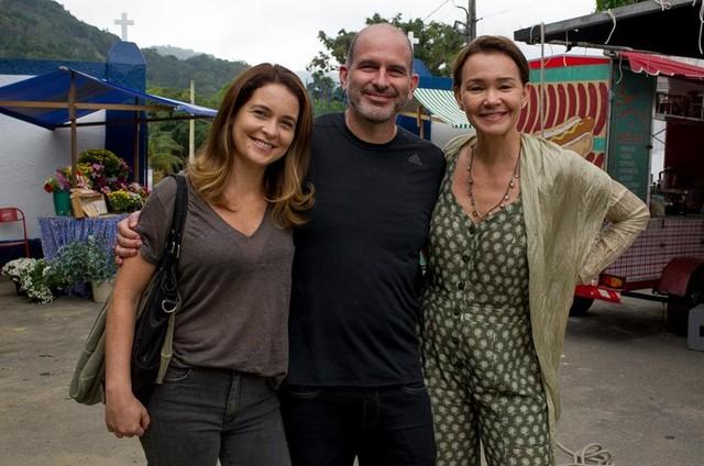 Cláudia Abreu, Marcos Bernstein e Julia Lemmertz (Foto: Divulgação)