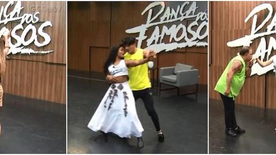 'Dança dos Famosos': Dani Calabresa, Erika Januza e Leo Jaime ensaiam tango e valsa para final