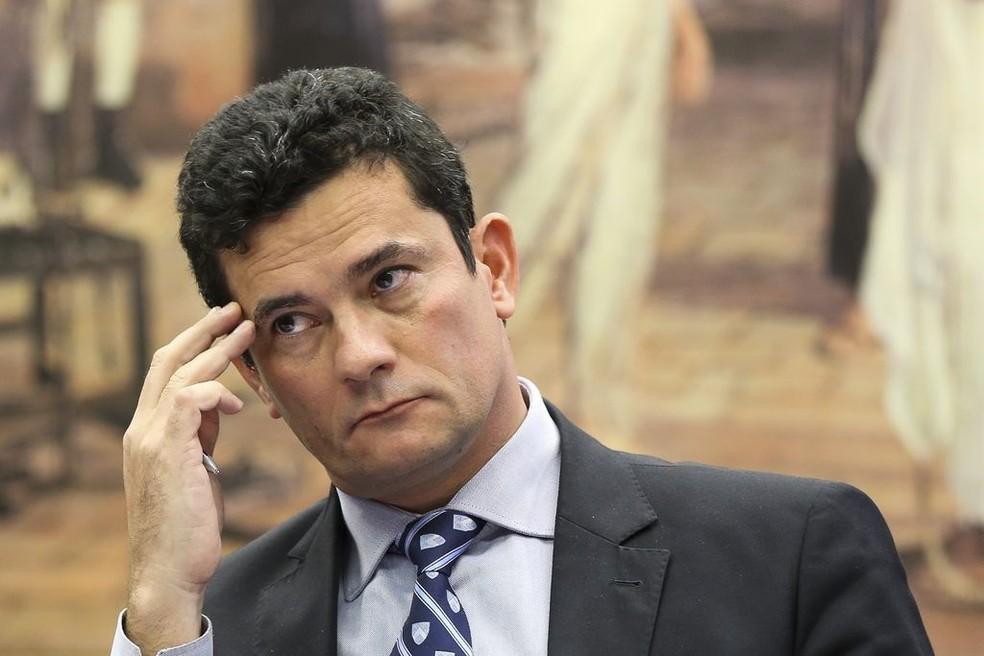 O juiz federal Sérgio Moro, responsável pela Operação Lava Jato na primeia instância — Foto: Marcelo Camargo/Agência Brasil