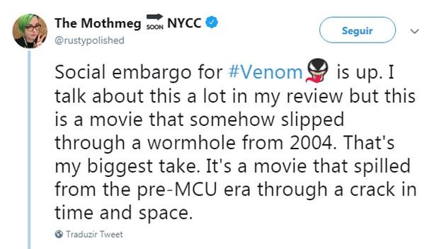 Críticos americanos detonam Venon (Foto: Reprodução Twitter)