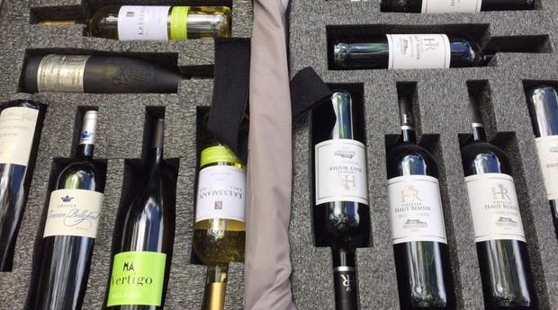 Espuma desenvolvida pela empresa brasileira facilita o transporte de vinhos (Foto: Divulgação)
