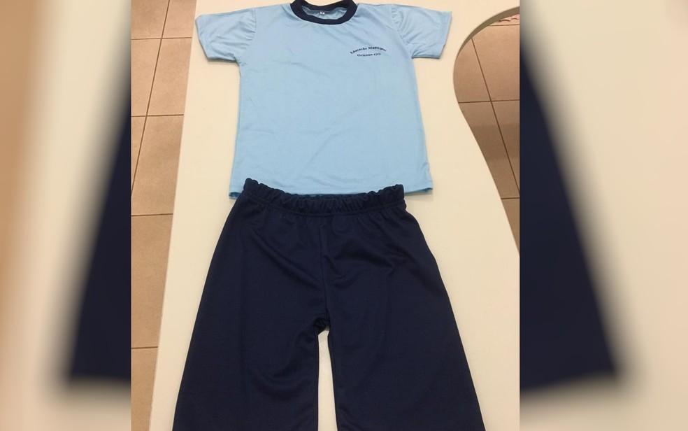 Presos costuraram 37 conjuntos com camiseta e bermuda  — Foto: Divulgação/ DGAP