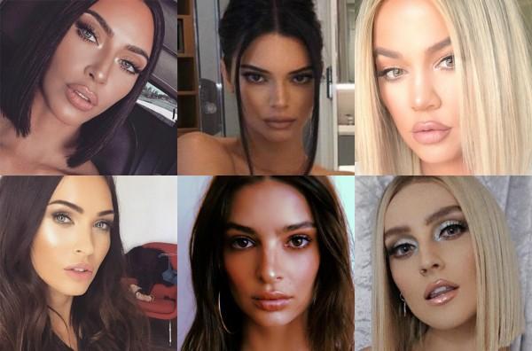 As fotos que fizeram as Kardashians serem comparadas a outras celebs  (Foto: Reprodução Instagram/Getty Images)