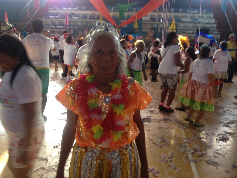 Vovó Iaiá, de 105 anos, morava em Macapá desde a década de 1950 — Foto: Arquivo/G1