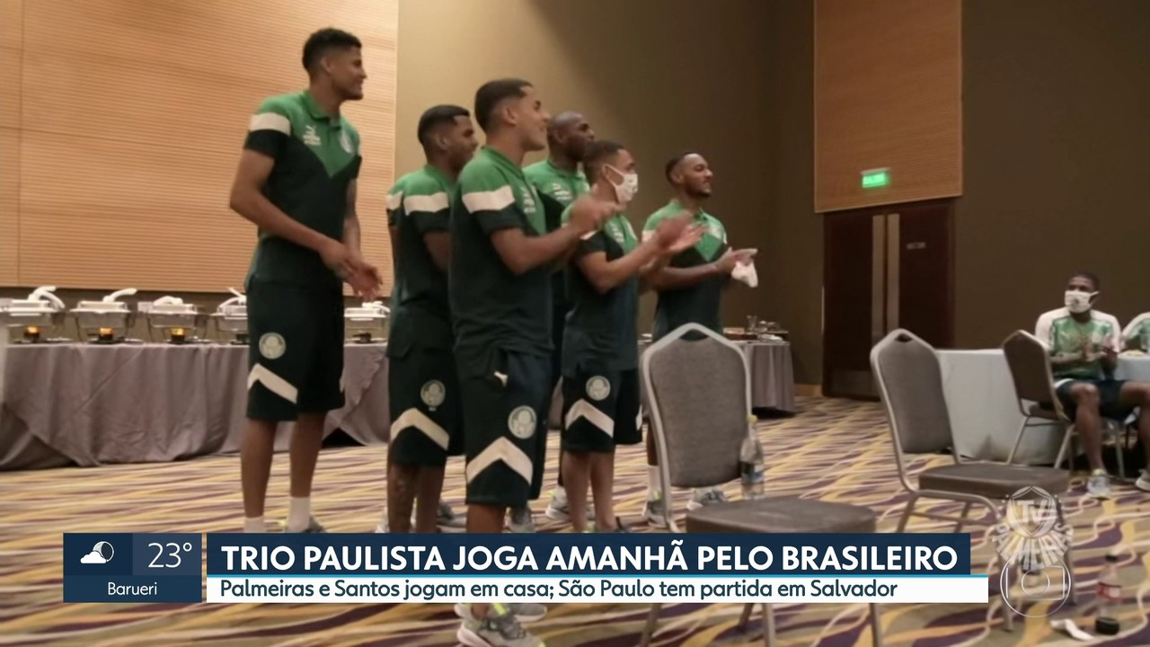 Trio paulista joga neste sábado pelo Campeonato Brasileiro