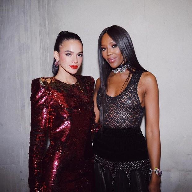 Bruna Marquezine e Naomi Campbell (Foto: Reprodução/Instagram)