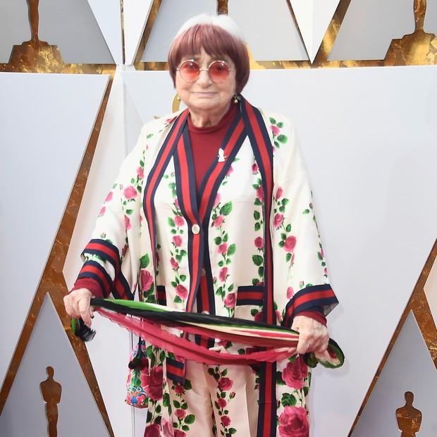 Agnès Varda no Oscar (Foto: getty images)