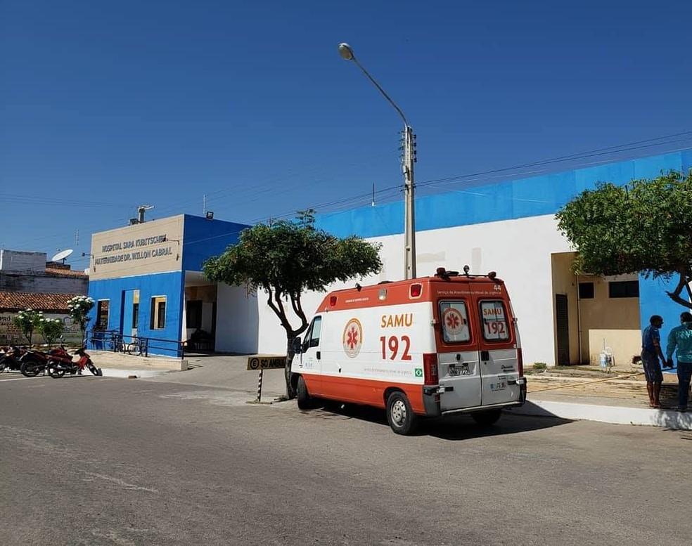 Mulher jogou fezes em médico dentro do Hospital Municipal de Areia Branca — Foto: Prefeitura de Areia Branca/Divulgação