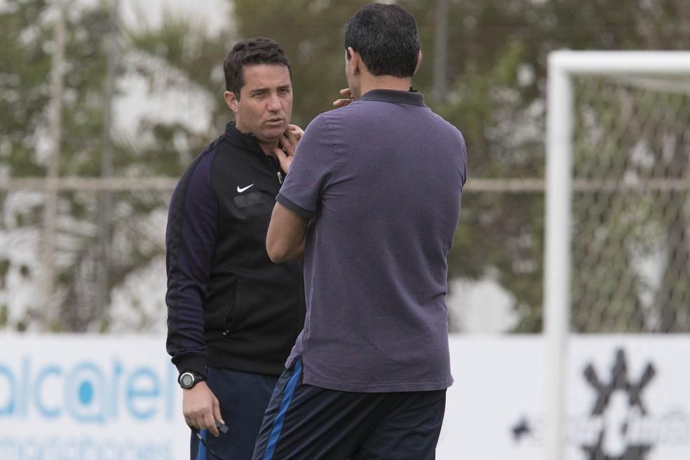 Osmar Loss assume o lugar de Fábio Carille (Foto: Daniel Augusto Jr/Ag Corinthians)