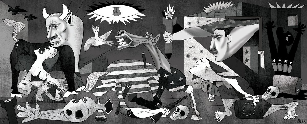Artista Cria Versao Siria Da Guernica Icone Da Guerra Civil