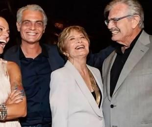 Mocita Fagundes, Tarcísio Filho, Gloria Menezes e Tarcisio Meira   Reprodução/Instagram