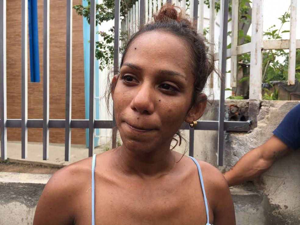 Noheliny Suarez, 26, morava no abrigo Jardim Floresta e também decidiu voltar para a Venezuela: 'Aqui está muito tenso' (Foto: Emily Costa/G1 RR)