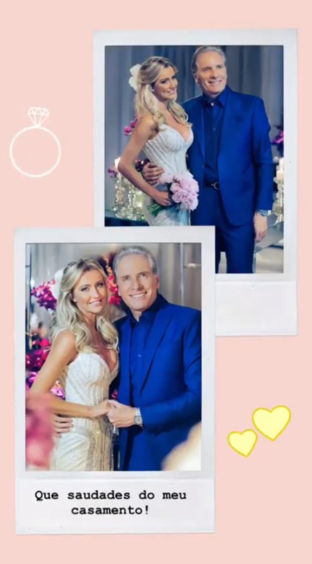 Ana Paula Siebert relembra seu casamento com Roberto Justus