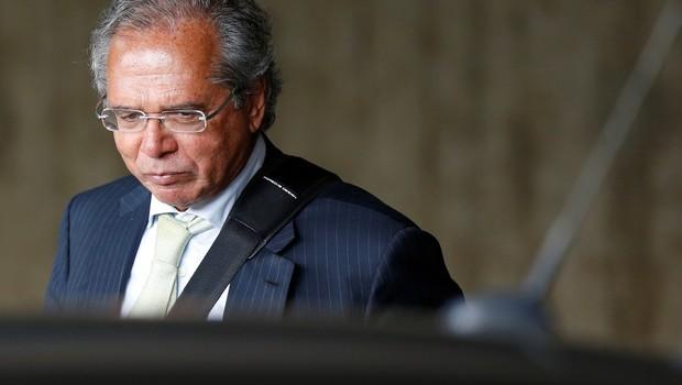 Paulo Guedes após reunião em Brasília (Foto:  REUTERS/Adriano Machado)