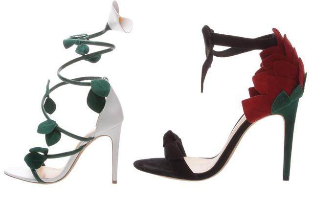 As sandálias Wrap Around e Rose Clarita, da colaboração exclusiva de Alexandre Birman com a Bergdorf Goodman. (Foto: Divulgação)
