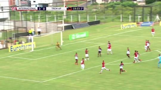 Melhores momentos: Internacional 4 x 0 TREM pela Copa São Paulo de futebol júnior