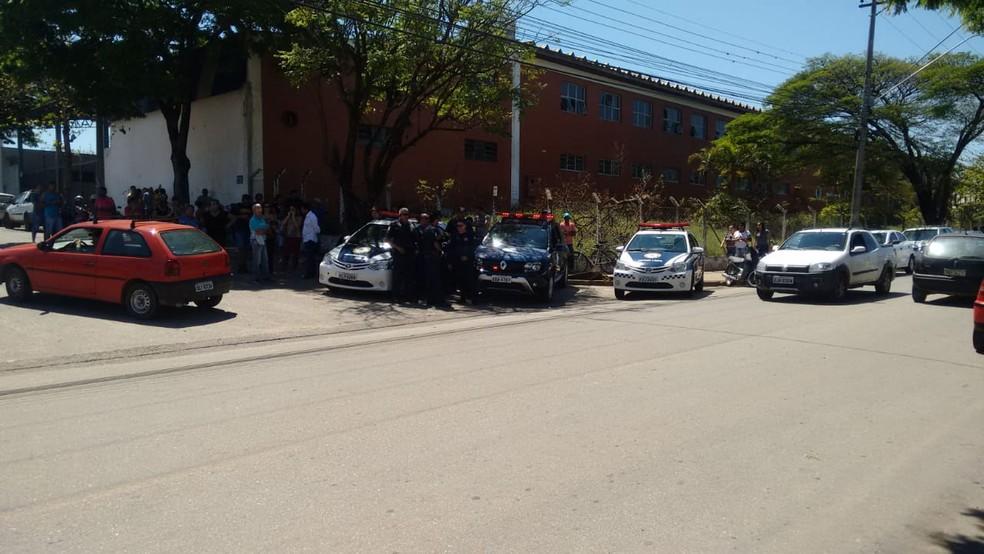 Enterro de Raí  Santos foi acompanhado por escolta da Guarda Civil Municipal em Boituva (SP) — Foto: Arquivo pessoal
