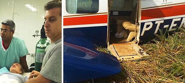Avião com Angélica e Luciano Huck teve pane em bomba de combustível, diz piloto (Alysson Maruyama/TV Morena)