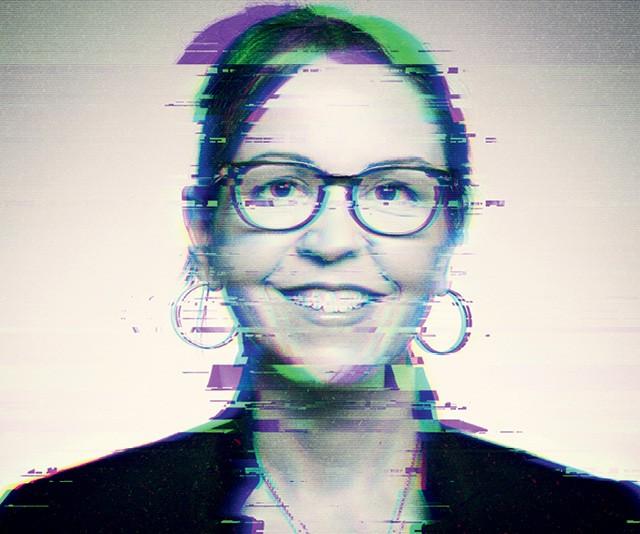 A filósofa Shannon Vallor dedica-se aos estudos da ética das ciências e de tecnologias emergentes (Foto: Intervenção gráfica sobre foto divulgação)