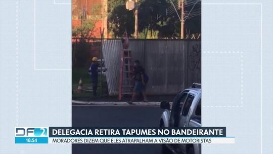 Delegacia retira tapumes no Núcleo Bandeirante