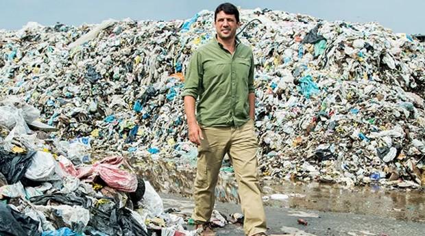 Luis Felipe Colturato, da Methanum: projetos e tecnologias para transformar o resíduo orgânico de lixões em energia (Foto: Marcelo Correa)