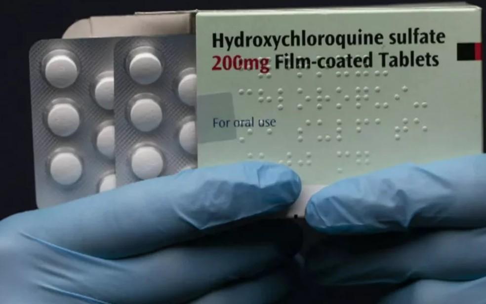 Cloroquina e hidroxicloroquina, medicamentos com ineficácia comprovada contra a Covid, chegaram a ser receitados por médicos — Foto: Reprodução/TV Globo