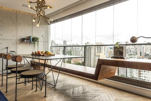 Reforma elimina paredes em apê de 50 m² e garante vista panorâmica (Foto: Romulo Fialdini/ Divulgação)