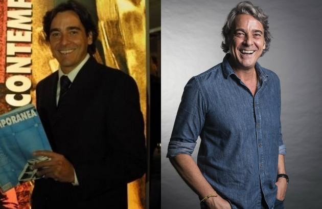 Alexandre Borges deu vida ao jornalista Cristiano Reis (Foto: Reprodução e TV Globo)