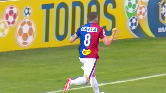 O gol de Paraná 1 x 0 América-MG pela 14ª rodada do Campeonato Brasileiro