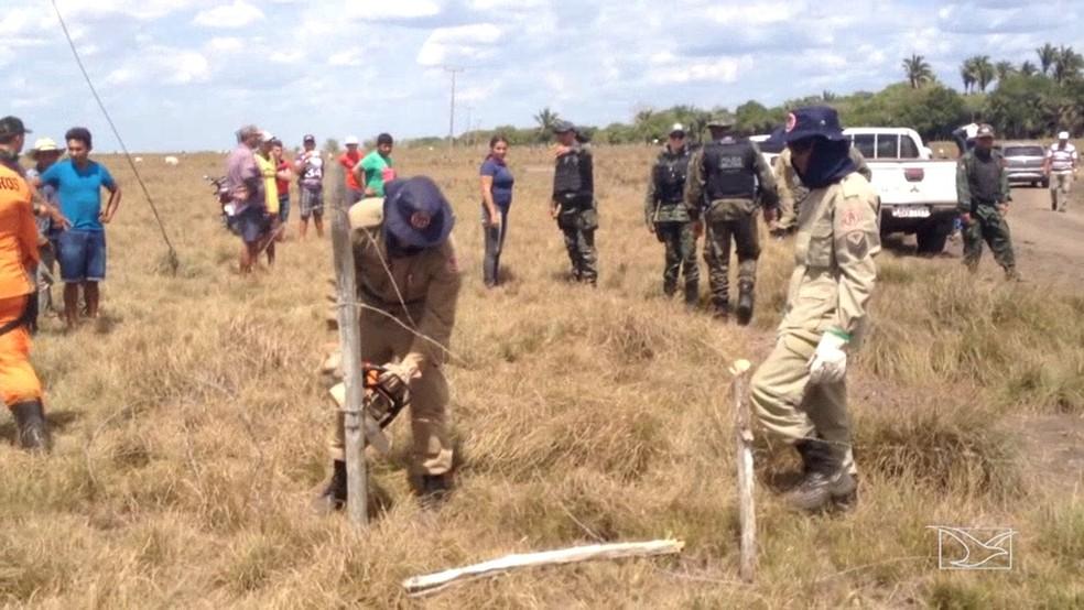 Operação foi realizada durante quatro dias na região (Foto: Reprodução/TV Mirante)