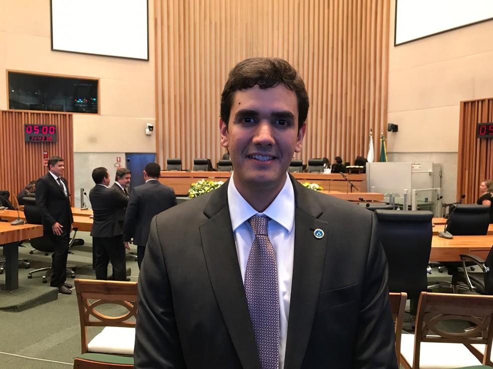 Deputado distrital Rafael Prudente (MDB), eleito presidente da CLDF — Foto: Letícia Carvalho/G1