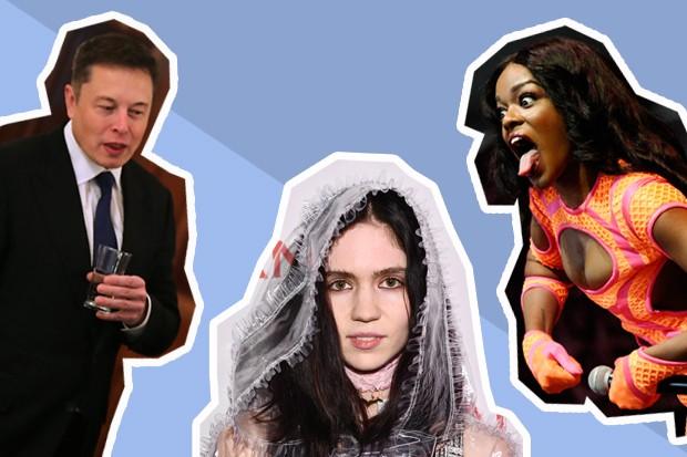 Elon Musk, Grimes, Azealia Banks e o final de semana mais nonsense dos últimos tempos (Foto: Getty Images/GQ Brasil)
