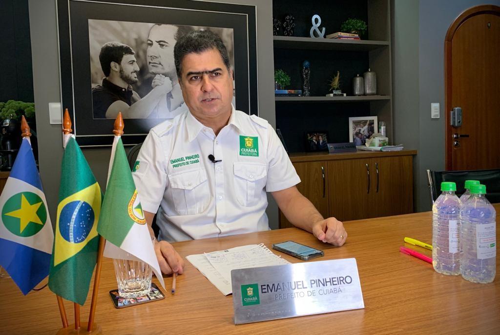 Homem é preso após agredir segurança e ameaçar prefeito de Cuiabá