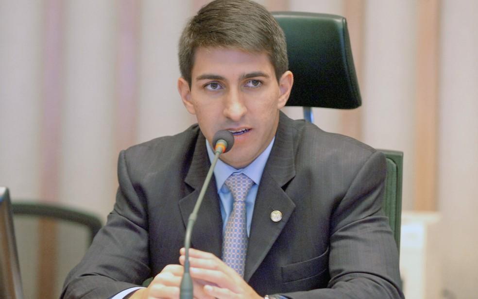 O ex-deputado distrital Cristiano Araújo (PSD) durante sessão na Câmara Legislativa do Distrito Federal — Foto: CLDF/Divulgação