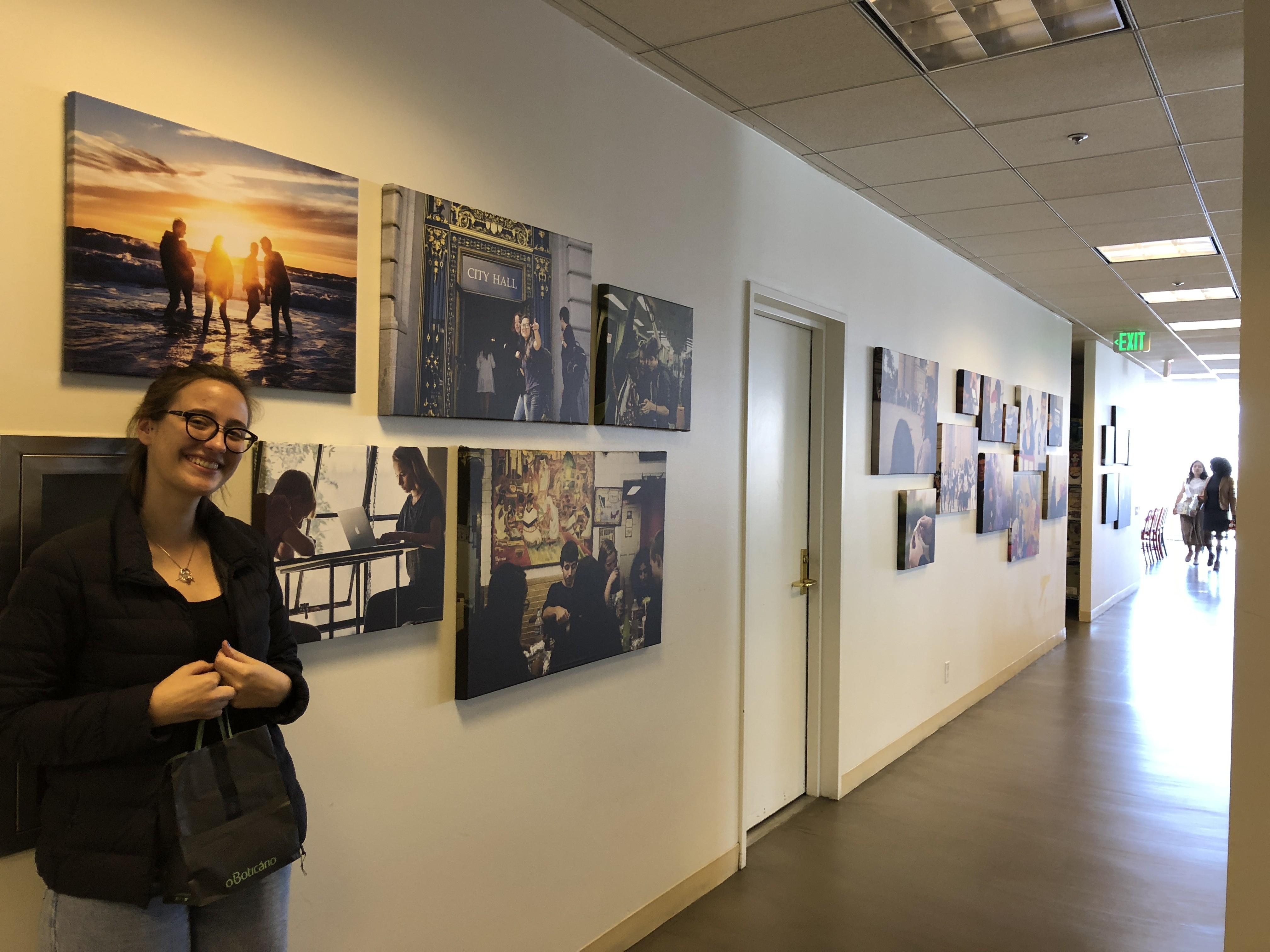 "Nathalia Bertolo Silva, fazendo ""Summer Project"" no escritório da California (Foto: Fernanda Lopes de Macedo Thees)"