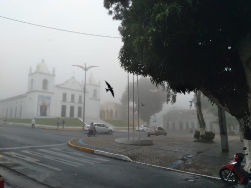 Choveu em 116 municípios no intervalo entre as 7h deste domingo (31) e as 7h de hoje. Viçosa do Ceará amanheceu com clima bem ameno nesta segunda. — Foto: Gilton Barreto/Arquivo Pessoal