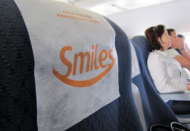Símbolo do programa de milhagem Smiles em voo da Gol Linhas Aéreas (Foto: Reprodução/Facebook)
