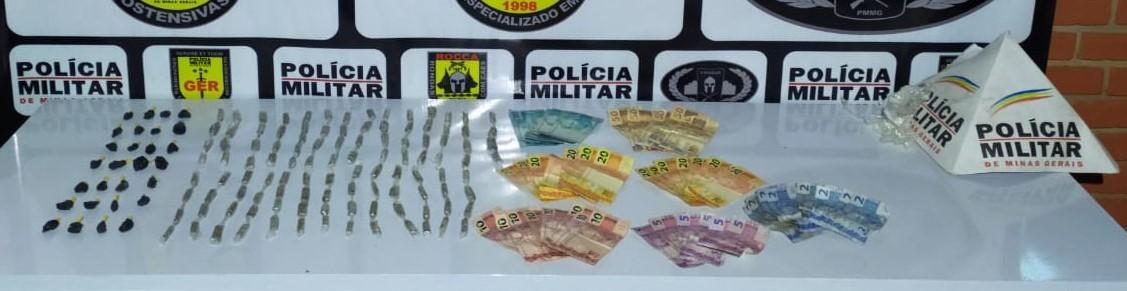 Dois suspeitos são detidos com mais de 130 porções de maconha e cocaína em Uberlândia