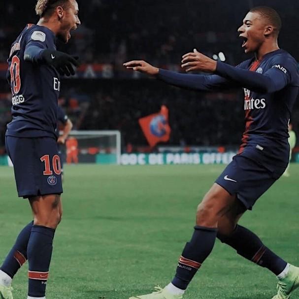 Neymar e Mbappe (Foto: Instagram/Reprodução)