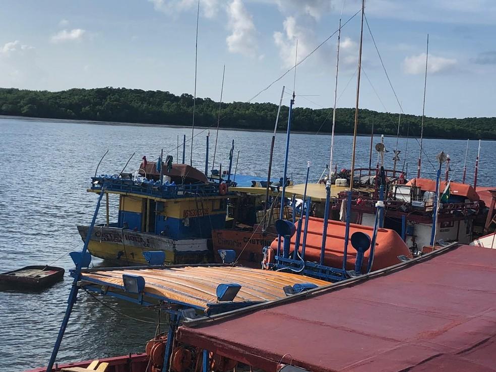 Embarcação desapareceu em Camocim, litoral oeste do Ceará — Foto: Mateus Ferreira/SVM