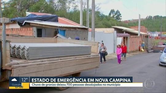 Após chuva de granizo, cidades da região de Itapetininga realizam reparos e moradores tentam retomar a rotina
