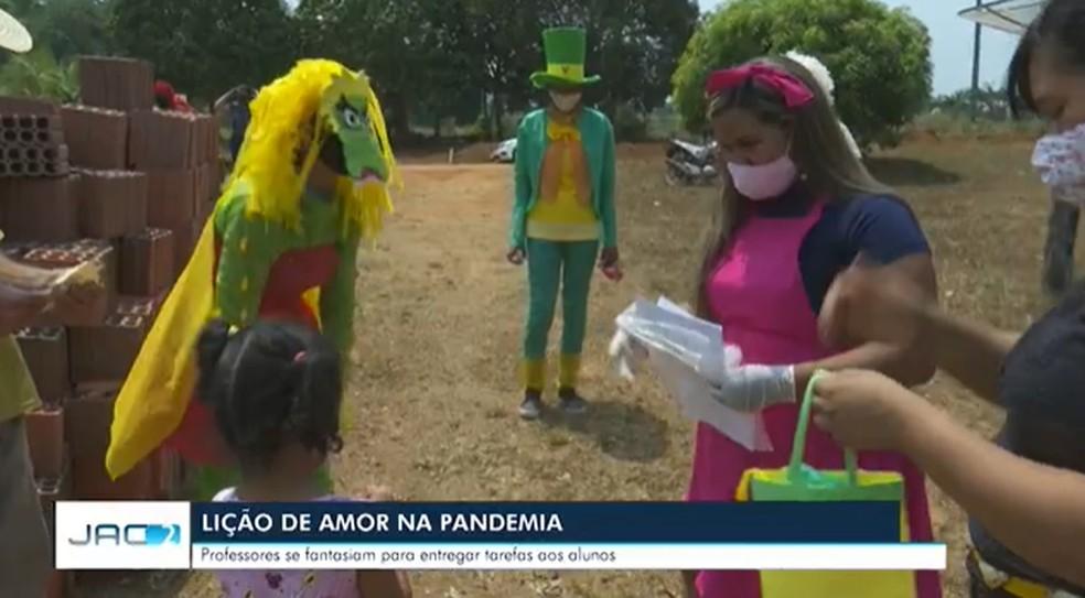 Momento é aguardado pelas crianças — Foto: Reprodução Rede Amazônica